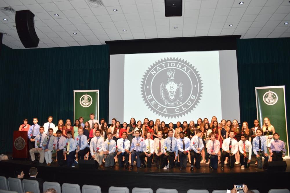Beta Club boasts hundreds of members across all four grades of Upper School.