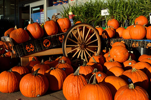 Pumpkins, pumpkins, and more pumpkins: the true mark of Halloween.