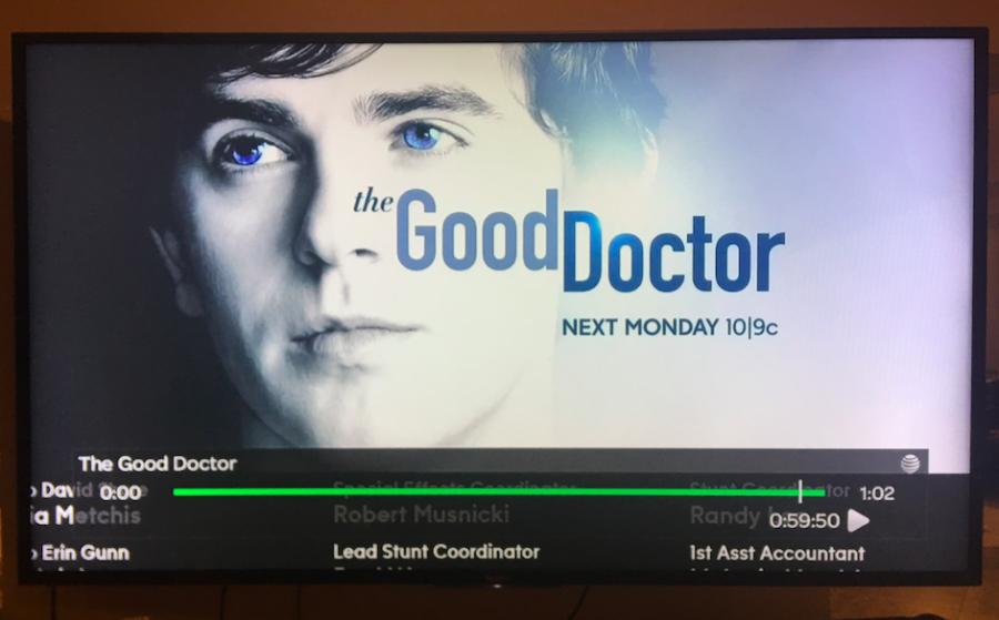 Junior Shayne Pollock watches the premiere of The Good Doctor on ABC. (via, Shayne Pollock)