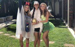From left to right: Nicole Phillips, Grace Correa, and Madison Hawthorne all dressed up for Halloween.