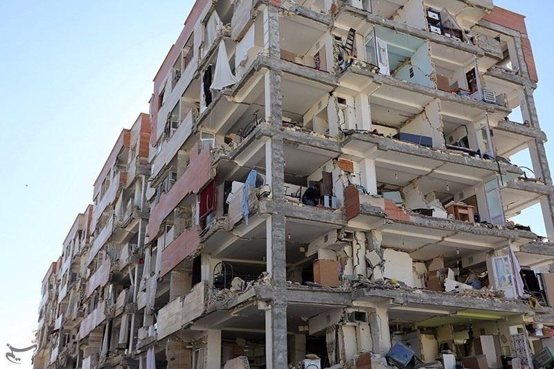 A building devastated by the earthquake. (Alireza Vasigh Ansari via Tasnim News)