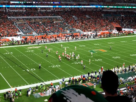 The Miami Hurricanes are on track to make the College Football Playoff. (via Jack Rubin, senior)