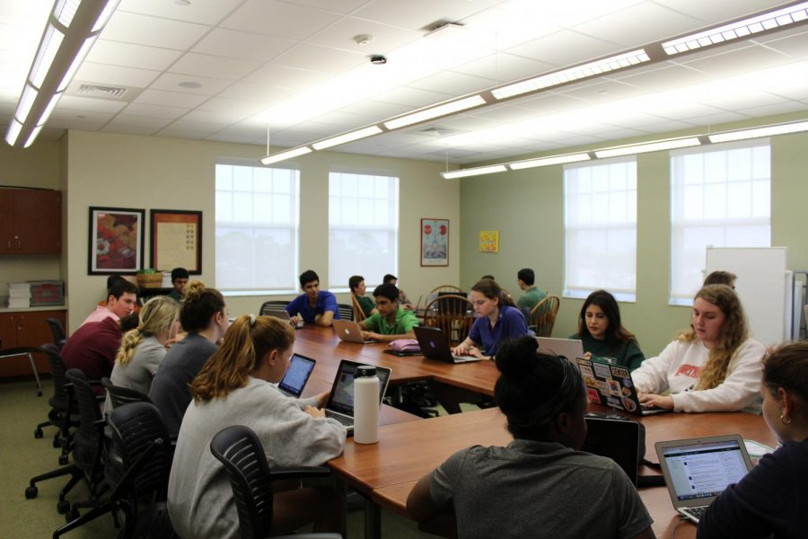 Students in Post-AP or Seminar courses spend two days a week in the traditional classroom setting.