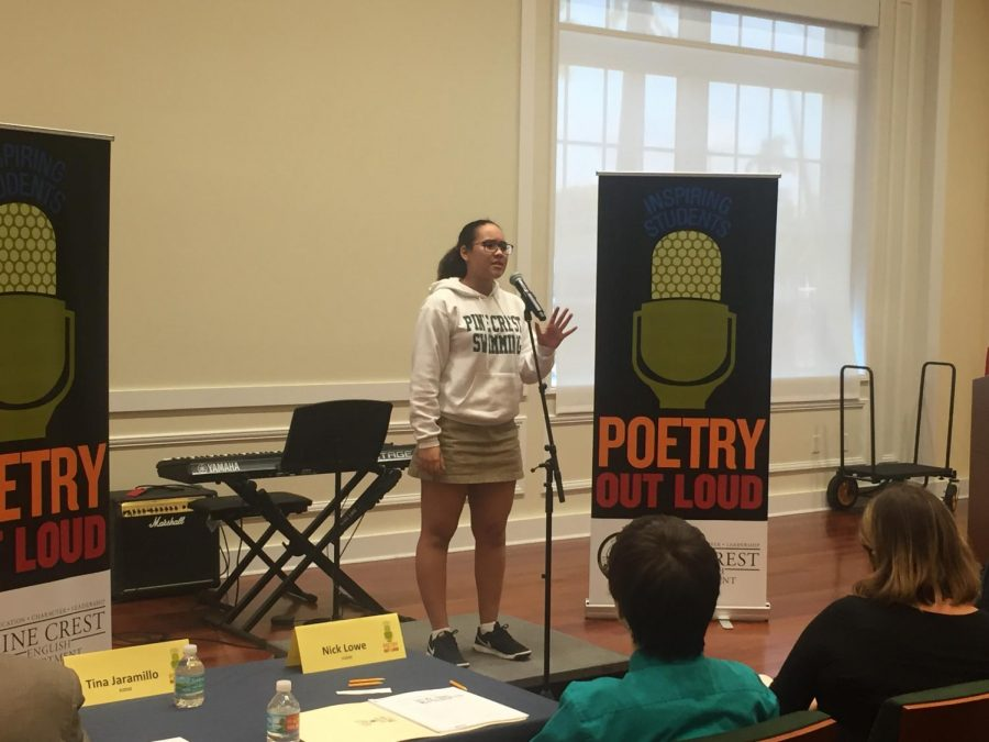 Poetry Out Loud, A&E, 2.6.18, Rachel Bell