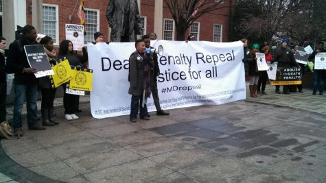 Protesters seen here at a rally calling for the end of the death penalty.