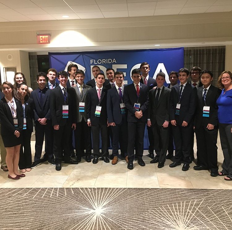 Pine Crest's DECA chapter members at the DECA Career Development Conference