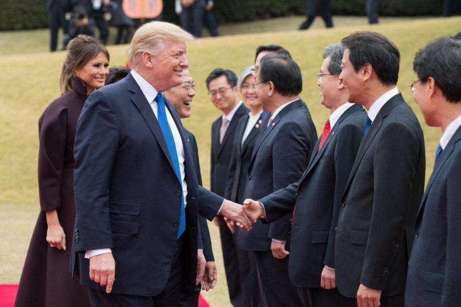 President Trump visits South Korea, November 7, 2017.