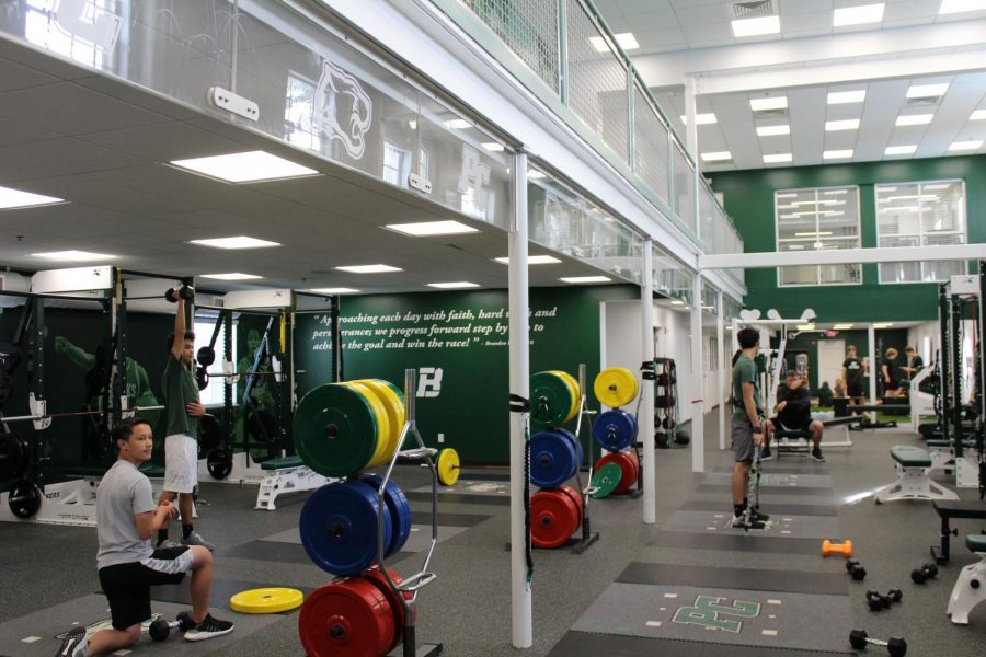 The Brandon Knight Sports Performance Center opened for Pine Crest Panthers in September (via Anna Selden, 11th grade).