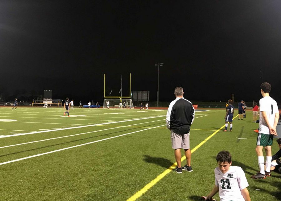 Boys%27+Varsity+Soccer+Team+working+hard+at+their+game+on+Best+Field.+
