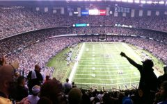 Fans at the New Orleans Superdome where the game was played.