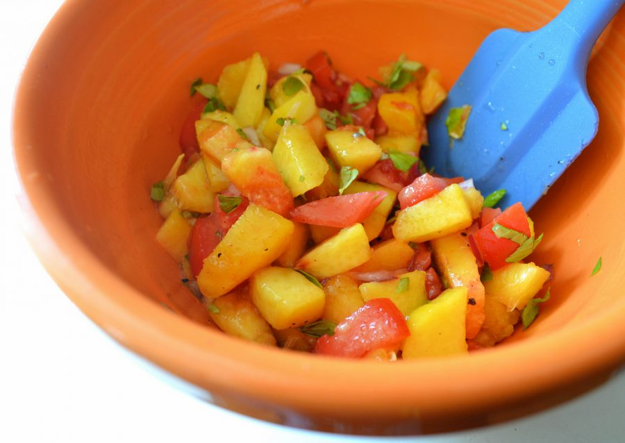 This salsa will leave you s-peach-less.
