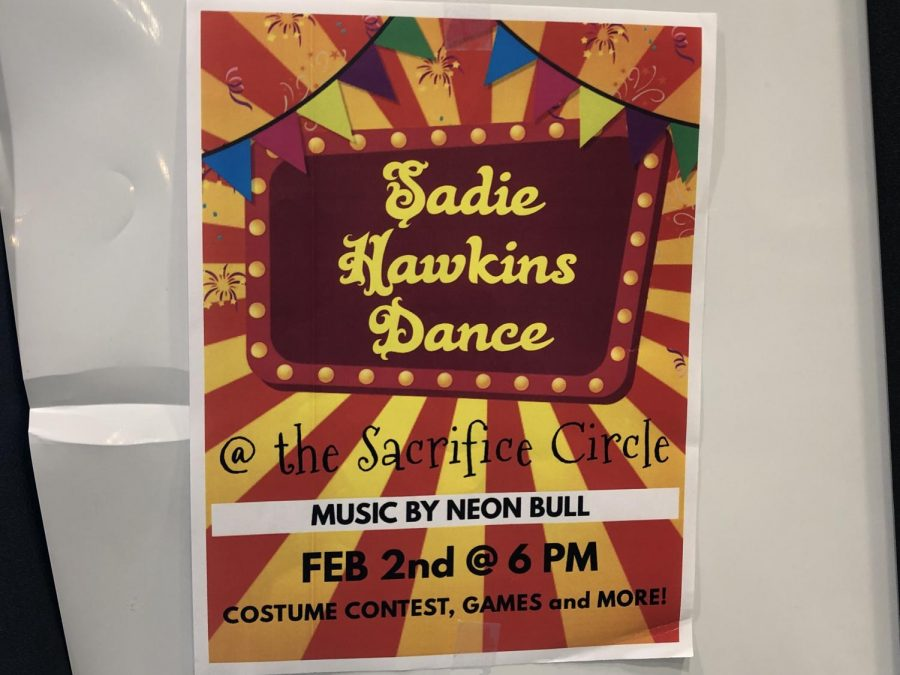 Carnival-themed Sadie Hawkins dance posters were plastered around school to advertise the first event of FebFest, which also included dress down days and the multicultural assembly.
