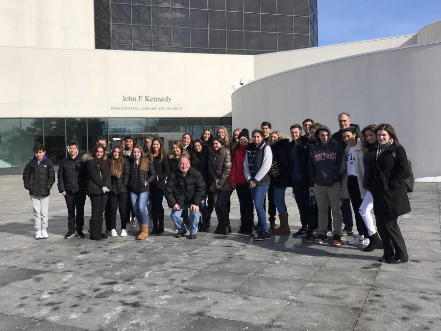 Students of Model Congress during their Boston trip.