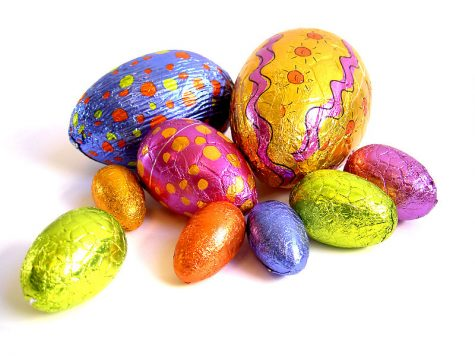 Easter egg chocolates are a popular springtime treat.