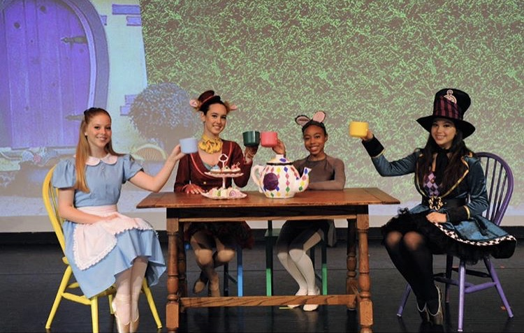 Dancers take the stage in Pine Crest's production of Alice in Wonderland.