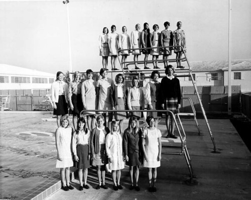 PC students gather to take a group portrait in 1966.