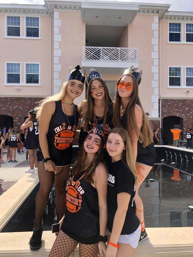 Seniors sporting their black and orange!