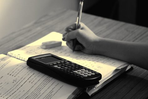 A student studying math (via Steven S., Flickr)