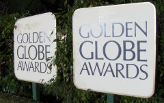 Signs at the Golden Globe Awards (via Peter Dutton, Wikimedia Commons)