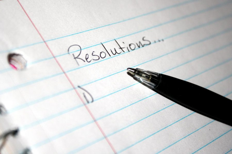 Starting a list of New Year's resolutions can be difficult (via Wikimedia Commons)