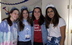 Four senior TSA members celebrating Senior Night at the TSA State Conference