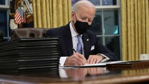 President Biden has signed 22 executive orders in his first week.
